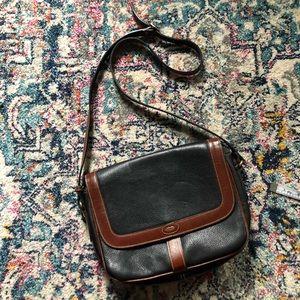 Bally Vintage Two Toned Leather Shoulder Bag